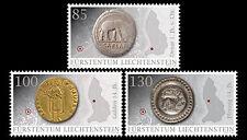 Liechtenstein 2014  archeologie munten landkaart   postfris/mnh