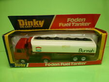 DINKY TOYS 950 FODEN TRUCK + FUEL TANKER - RED 1:43? - GOOD CONDITION IN BOX