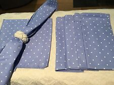 Lavendar and White Polka Dot Napkins