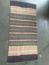 VINTAGE NEAT OLD PRIMITIVE COUNTRY COLORS RAG RUG