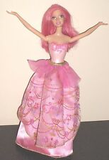 Barbie 2005 Mattel Doll Pink Hair,Molded Swimsuit & Double Sided Skirt,Jointed