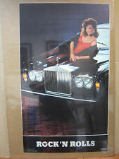 Rock 'n Rolls Hot girl ORIGINAL man cave car garage Vintage Poster 5255