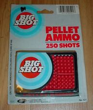 Vintage New In Package Plastic Pellet Ammo For Tiger Toys Pistol Rifle 250 Shot