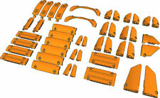 Lego Technic - Orange Studless Panels Fairings - Selection 44 Parts - NEW 42056