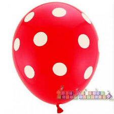 RED POLKA DOT LATEX BALLOONS (6) ~ Birthday Party Supplies Helium Decorations