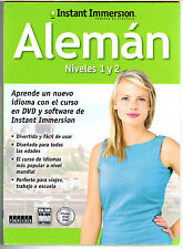 Instant Immersion Learn to Speak GERMAN ~SPANISH TO GERMAN(1&2)Computer Software