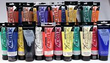 Huge Lot of 24 Big 4 Ounce Acrylic Paint Tubes Artist Colors -For Canvas, Wood