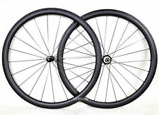 Straight-Pull Sapim CX-RAY 38mm Tubular Wheel 700C Carbon Matt Powerway R36 hub