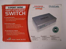 SWITCH NEUF 5 PORT RJ45 10/100   OVISLINK EVO-FSH5R
