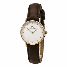 Daniel Wellington 0903DW Women's Dark Brown Strap Crystal Watch