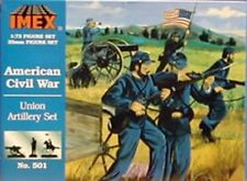 Imex 1/72nd ACW Union Artillery Plastic Figures Set No. 501