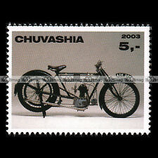★ NORTON 500 BS 'OLD MIRACLE' 1912 ★ CHUVASHIA Timbre Moto Collection Stamp #305
