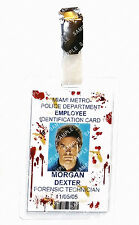 Dexter ID Badge Forensic Technician Blood Cosplay Prop Gift Costume Christmas