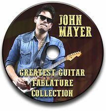 John MAYER CHITARRA ROCK schede tablature SONG BOOK CD software