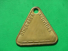 NCB Derbys Other Area Activities Bolsover pit check colliery coal mining token
