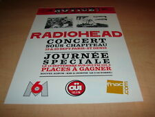 RADIOHEAD - IN CONCERT!!!!!!!!!!!!!! PUBLICITE / ADVERT