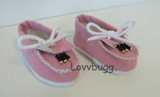 "Pink Beaded Moccasins Shoes for 18"" American Girl Doll Widest Selection"