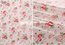 Oilcloth Fabric Homeware Craft Floral Pink Retro Style Fat Quarter