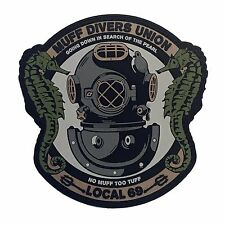 Muff Divers Union - PVC Tactical Morale Patch With Hook Backing