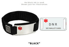 DNR Medical Alert ID Bracelet. Free emergency wallet Card!