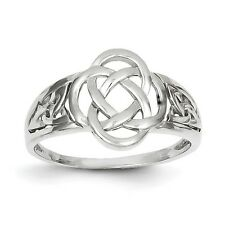 14k White Gold Ladies Celtic Knot Ring Size 7
