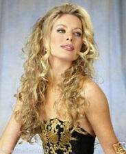 Hot New Fashion Women Cosplay Blonde Long Curly Heat Resistant Hair Full Wig