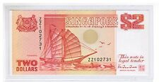 1991 SINGAPORE $2 Ship Series (Orange) Replacement Note Hu Tsu Tau, ZZ xxxxx UNC