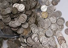 Mercury Silver Dime Fine 90% Lot Bag of Five Dollars Worth 50 Circulated Coins
