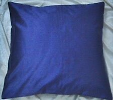 """blue 20"""" square 50 cm poly silk cushion cover solid pillow case throw"""