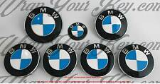 BIANCO & Blu Scuro M sport BMW Badge Emblema Overlay HOOD TRUNK CERCHIONI adatto a tutte le BMW