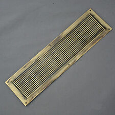 Brass Victorian Style Reeded Finger Plate