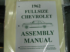 1962 FULLSIZE CHEVY IMPALA, BELAIR, BISCAYNE (ALL MODELS) ASSEMBLY MANUAL