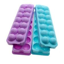 Hot Plastic Ice Cube Tray Mould Ice-making Box Molds With Cover Kitchen Bar Tool