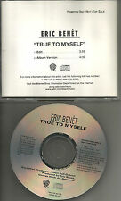 ERIC BENET True to Myself w/ RARE EDIT PROMO DJ CD Single BATMAN & ROBIN MOVIE