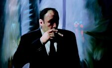 Sopranos 28x16in painting. Not print Framing avail canvas godfather goodfellas