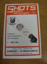 19/09/1973 Aldershot v Plymouth Argyle  .  We are pleased to be able to offer th
