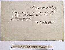 GIUSEPPE GARIBALDI HANDWRITTEN & SIGNED LETTER DATED 9-26-1859 IMPORTANT PERIOD.