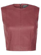 Muubaa Arkansas Pomegranate Leather Bodice vest. RRP £195. UK 10