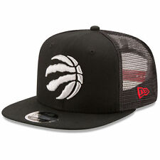 New Era Toronto Raptors Black Trucker Patched Snapback 9FIFTY Adjustable Hat