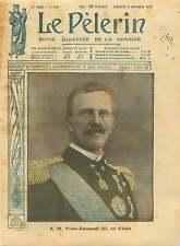 Portrait Vittorio Emanuele Victor-Emmanuel III roi d'Italie 1917 ILLUSTRATION