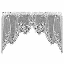 Heritage Lace Tea Rose 60-Inch Wide by 30-Inch Drop Swag Pair, Petal