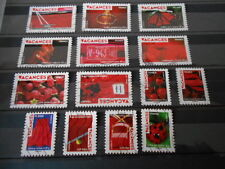 14 TIMBRES FRANCE ANNEE 2009 OBLITERES SERIE VACANCES