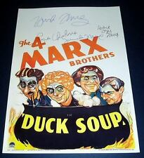 DUCK SOUP CAST x4 PP SIGNED POSTER 12X8 MARX BROTHERS