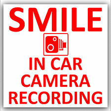 In Car Camera Recording Sticker-CCTV Sign-Van,Lorry,Truck,Taxi,Bus,Mini Cab-D2