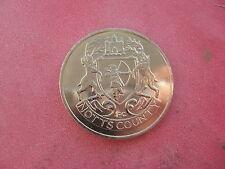 1 NOTTS COUNTY F.A. CUP CENTENARIO 1872-1972 COLOR ARGENTO MEDAGLIA TOKEN COIN