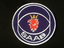 SAAB CAR TRUCK BLUE WHITE  BADGE IRON SEW ON PATCH
