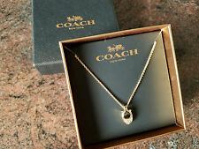 """NEW! COACH 16-18"""" ADJUSTABLE GOLD NECKLACE -PAVE C JEWELRY CHRISTMAS GIFT F54517"""