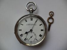 ACME LEVER H.SAMUEL SOLID SILVER 1918 POCKET WATCH -WORKING