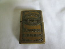 Vintage Brass Jack Daniels Old No. 7 Tennessee Whiskey Advertising Lighter XV