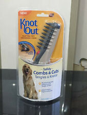 Free shipping Knot Out Electric Pet Grooming Comb Black Grey for cats and dogs